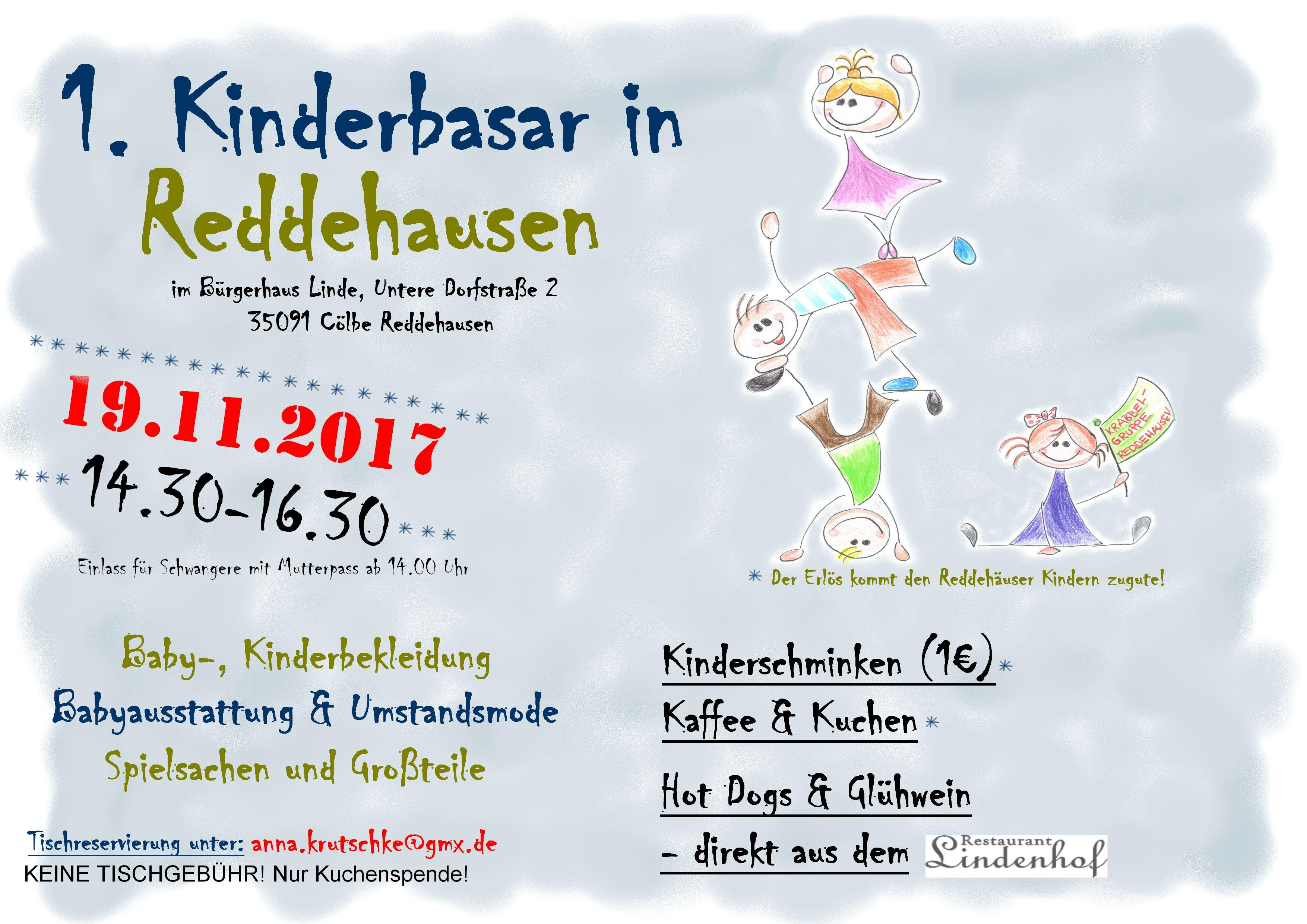 Plakat Kinderbasar neu Reddehausen