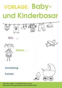 Motivvorlage Kinder- und Babybasare A4